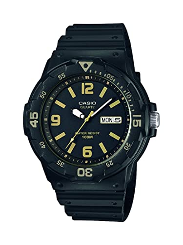 Casio Collection – Herren-Armbanduhr mit Analog-Display und Resin-Armband – MRW-200H-1B3VEF
