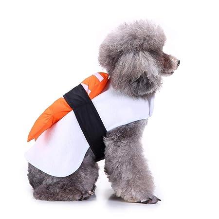 UTOPIAY Disfraz de Halloween para Perros, Ropa de Sushi de salmón ...