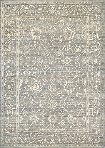 Couristan Everest Collection Persian Arabesque Rug, Charcoal/Ivory