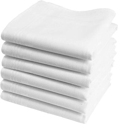 Hankiss - Pañuelos de Algodón Orgánico Blanco- Modelo SNOW - Pequeño Tamaño 28cm - 6 Piezas - 100% Algodón Certificado GOTS: Amazon.es: Ropa y accesorios