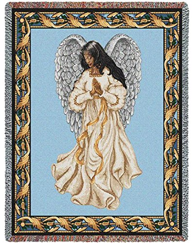 Pure Country Guardian Angel 2 Blanket Tapestry Throw (Two Tapestry Angels)