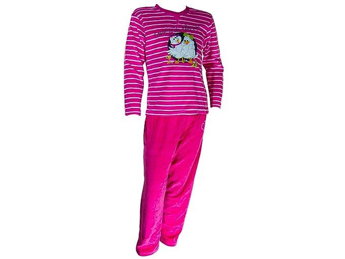 cee2ee338 Pijama tundosado (Terciopelo) Manga Larga Niña - Juvenil: Amazon.es: Ropa y  accesorios