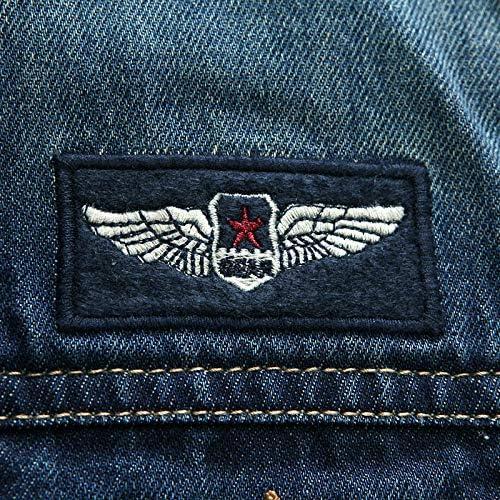 LFDJNZ Abbigliamento Primavera Autunno Uomo Giacca di Jeans Lettera Ricamo Giacche e Cappotti Moda Uomo Giacca di Jeans AS PICTURE butK2