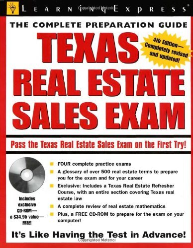 Download By LearningExpress LLC Editors - Texas Real Estate Exam (Texas Real Estate Sales Exam) (4th Edition) (2007-04-05) [Paperback] PDF