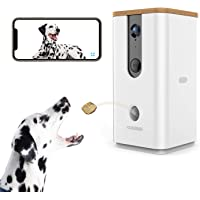 Vbroad Smart Pet Camera Treat Dispenser, 2.4G WiFi Remote Camera Monitor 720P HD Night…