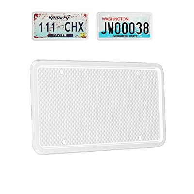 Molitececool License Plate Frame Silicone License Plate Frame for Automotive Weather-Proof Rust-Proof Rattle-Proof for Car License Plate Holder: Automotive