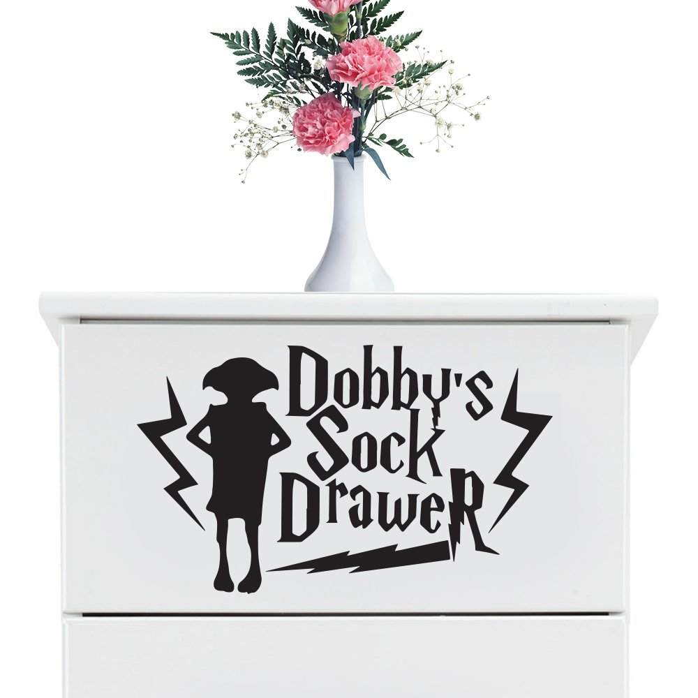 Dobbys Sock Drawer Decal Sticker Child's Room (100x80mm) by Inspired Walls®