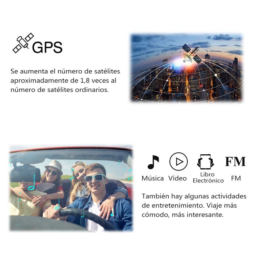 GPS para Coche Pantalla de 7 N/üvi con Bluetooth C/ámara de Respaldo del Veh/ículo Gratis de Mapa de Europa Toda la Vida