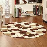 TOYM US- Round study table mats cushion yoga mat computer dance mat soundproof bedroom bed non-slip pad moisture ( Size : Diameter 40cm )
