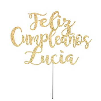 Feliz CumpleañOs Cake Topper Custom Happy Birthday Spanish ...