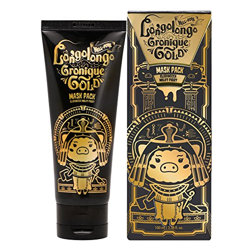 Elizavecca Milky Piggy Hell-Pore Longo Longo Gronique Gold Mask Pack (Let Me Out Blackhead Peel Off Mask)