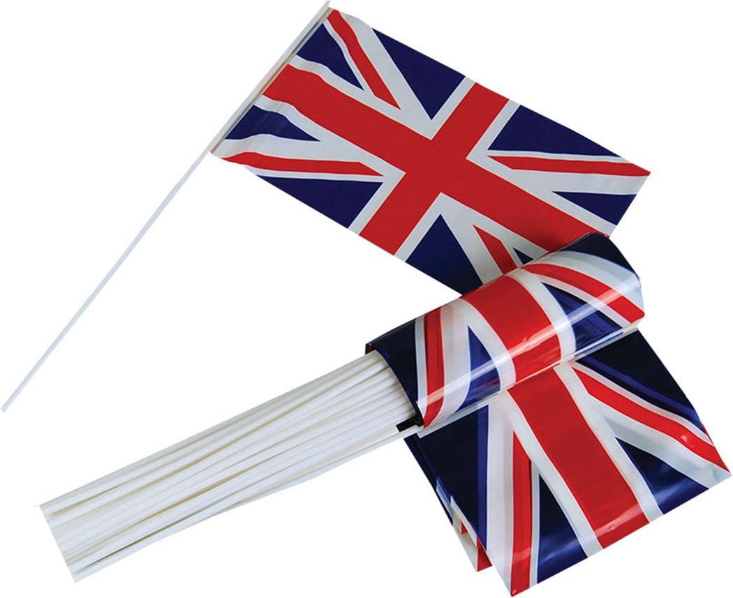Union Jack Hand Waving Flag Plastic