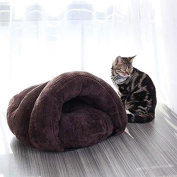 Cama para mascotas cama para gatos nido perrera otoño invierno gato saco de dormir,gray,60 * 50 * 40cm: Amazon.es: Hogar