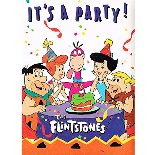 Flintstones Vintage Dino Party Invitations w/ Envelopes (8ct)