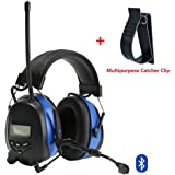 Protear Hearing Protector,Bluetooth 4.3 and MP3 Compatible with AM/FM Digital Radio,with a Earmuff Clip,Electronic Noise Reduction Safety Ear Muffs,NRR 25dB Ear Defenders for Working Mowing