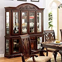 247SHOPATHOME IDF-3185HB China-Cabinets, Cherry