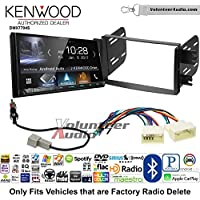 Volunteer Audio Kenwood DMX7704S Double Din Radio Install Kit with Apple CarPlay Android Auto Bluetooth Fits 2012-2013 Hyundai Accent (Radio Delete Models)