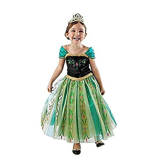 HAWEE Princesa Disfraz Frozen Vestido Niñas Disfraz Anna ...