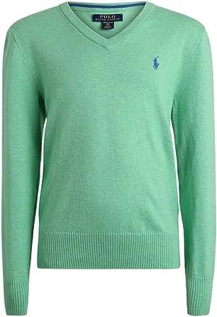 Polo Ralph Lauren - LS VN TP SWT - Jersey Punto Verde NIÑO (6 AÑOS ...