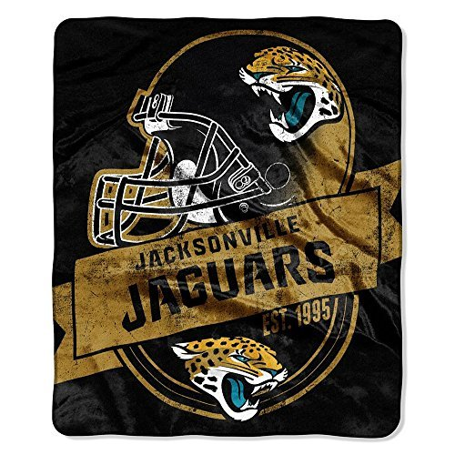 Northwest 708 Company NFL Jacksonville Jaguars Grand Stand Raschel Throw, 50 60-Inch