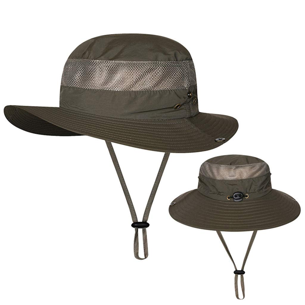 CapsA 釣り用帽子 ブーニーハット 夏 調節可能 バケットハット メンズ B07PJKTD3D レディース 防風 釣り用帽子 幅広つば 日焼け防止帽子 アウトドア メッシュ 釣り キャップ キャンプ 釣り 夏 ガーデニング B07PJKTD3D アーミーグリーン, 雑貨とギフトの専門店 マイルーム:677552c3 --- alumnibooster.club