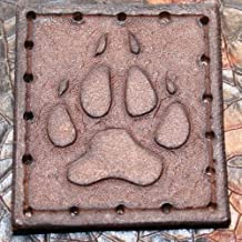 """Leather Patch - Wolf Paw - Handmade 2"""" x 2.25"""""""