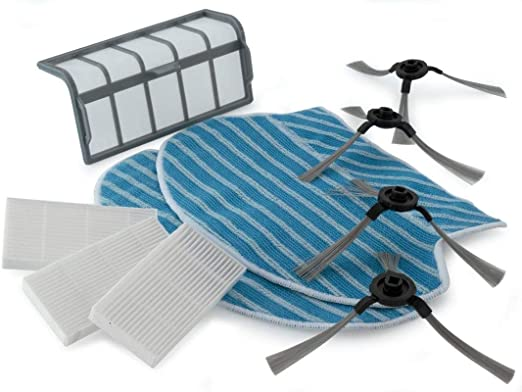 Blaupunkt XSMART - Juego de accesorios para robot aspirador con 2 paños Mop, 4 cepillos laterales, 3 filtros HEPA y 1 filtro primario: Amazon.es: Hogar