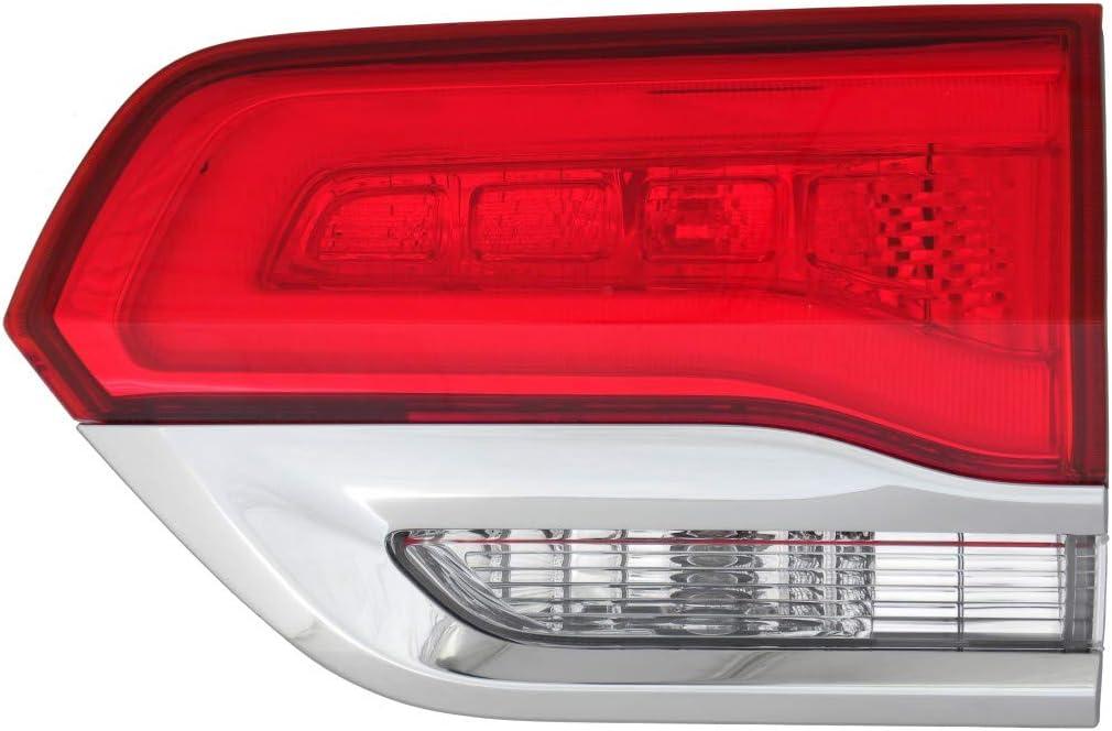 Fits Jeep Grand Cherokee 2014-2017 Platinum Shiny Chrome Trim Inner Tail Light Assembly Inner Laredo,Limited,Overland.Summit Model Trim Passenger Side CH2803105