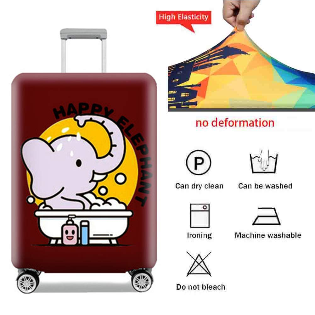 Suitcase Cover Thick Polyester Polyester Wear-Resistant Protective Sleeve Elastic Breathable Pull Bar Box Waterproof Dust Cover