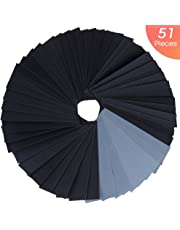 Vastar Sandpaper, 51Pieces Wet Dry Sand Paper 9x3.6 Inch 120/150/180/220/320/400/600/800/1000/1200/1500/2000/2500/3000 for Metal Sanding, Wood Furniture Finishing and Automotive Polishing