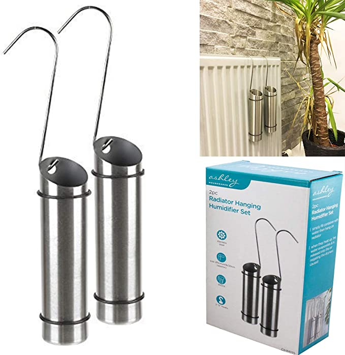 Fineway. 2 x Radiator Hanging Humidifiers Dry Air Water Humidity Control Stainless Steel </div>             </div>   </div>       </div>     <div class=
