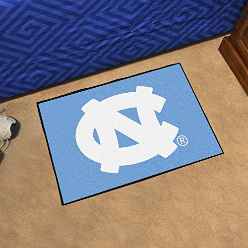 Fanmats Ncaa UNC North Carolina - Chapel Hill College Sports Team Logo Home Office Nylon Carpet Decorative Door Welcome Starter Rug Floor Mat 20