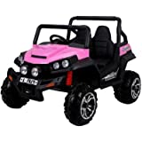 Exclusive Edition Big Kids Ride on Toy Car, 2 Seats, Lighnts, Music, Opening Doors, Remote Control + Gift MP3 Player