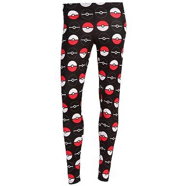 61b9e3d5ca Amazon.com  Pokémon Pokemon Pokeball Womens Spandex Leggings  Clothing