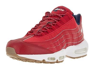 38d0becf2b42 Nike Men s Air Max 95 Prm University Red White Mid Navy Running Shoe 10.5  Men