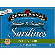 Crown Prince, Skinless & Boneless Sardines in Olive Oil, 3.75 oz