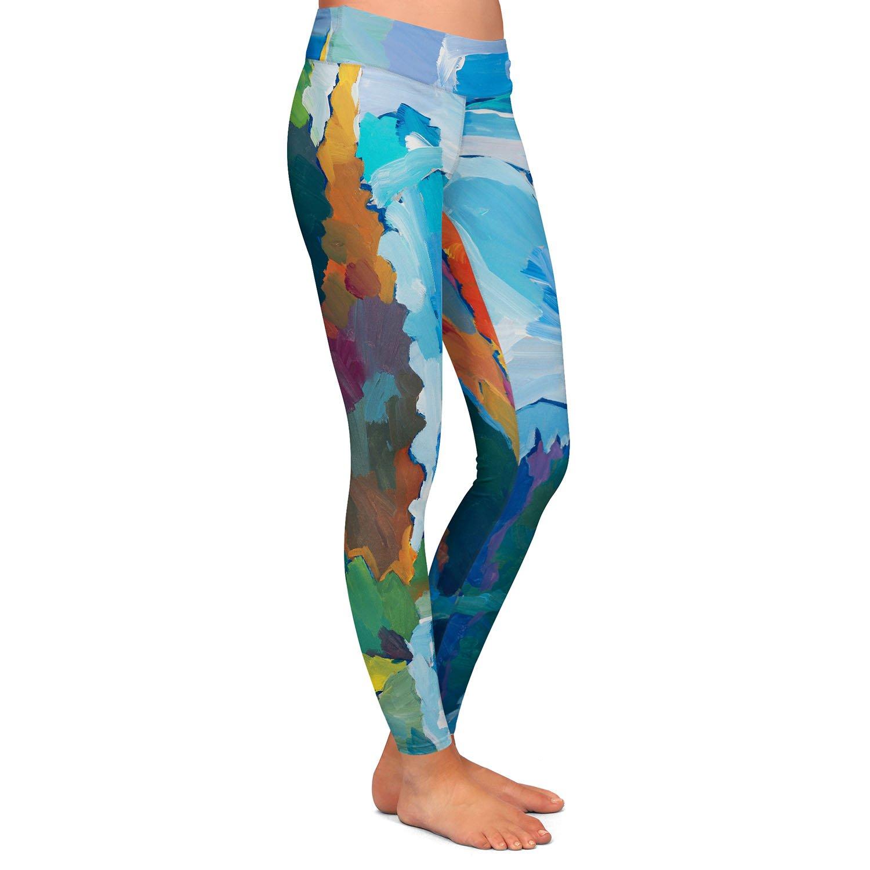 Window to Grandeur Athletic Yoga Leggings from DiaNoche Designs by Hooshang Khorasani