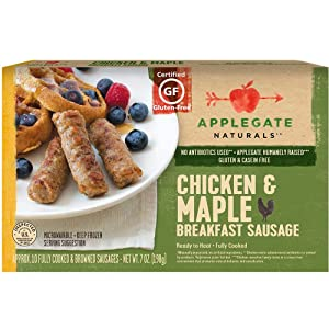 Applegate Chicken and Maple Breakfast Sausage Link, 7 Ounce -- 12 per case.