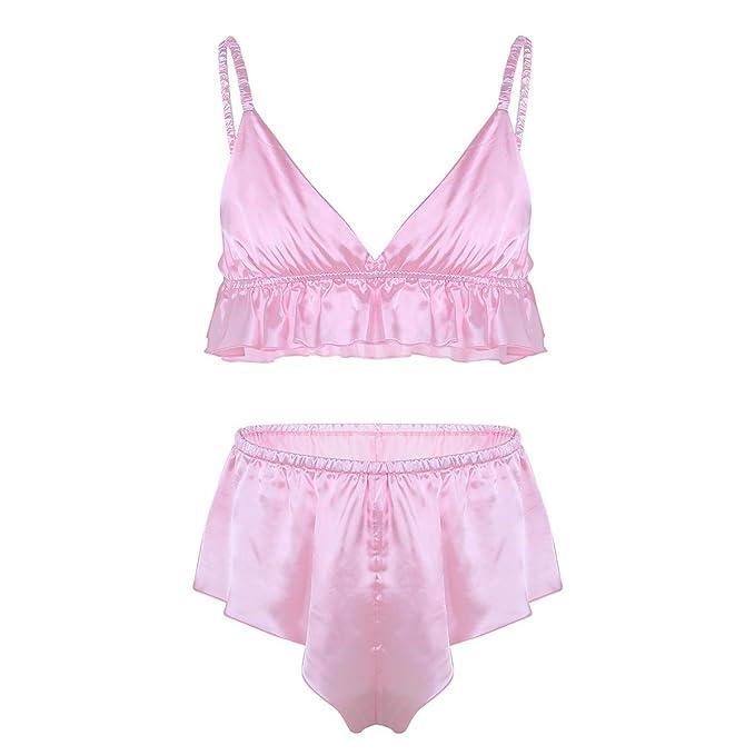 iiniim 2 Piezas Sujetador Bragas Ropa Erótica Hombre Conjunto Sissy Ropa Interior Sexy Tops Gay Bikinis Push Up para Hombres Adultos: Amazon.es: Ropa y ...