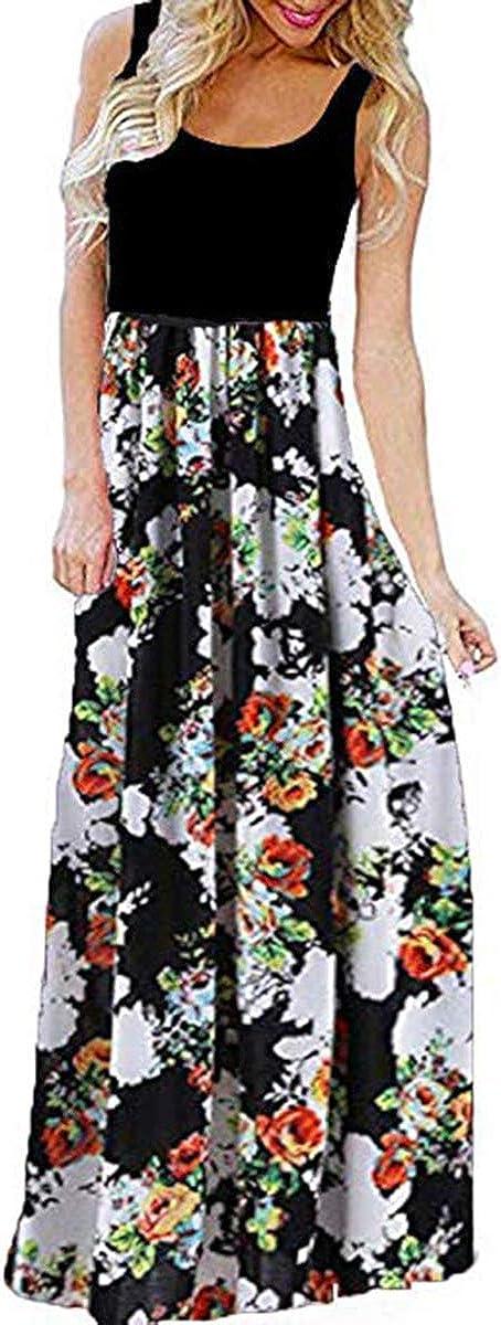 Mescara Damen Sommerkleider Maxikleider Bandeau Lange Cocktailkleid Strand Elegant