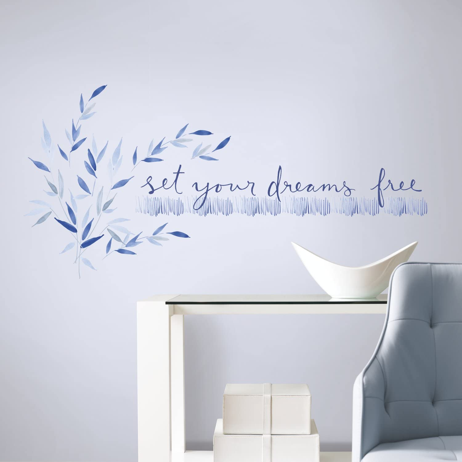 RoomMates Kathy Davis Set Your Dreams Free Quote Peel and Stick Wall Decals