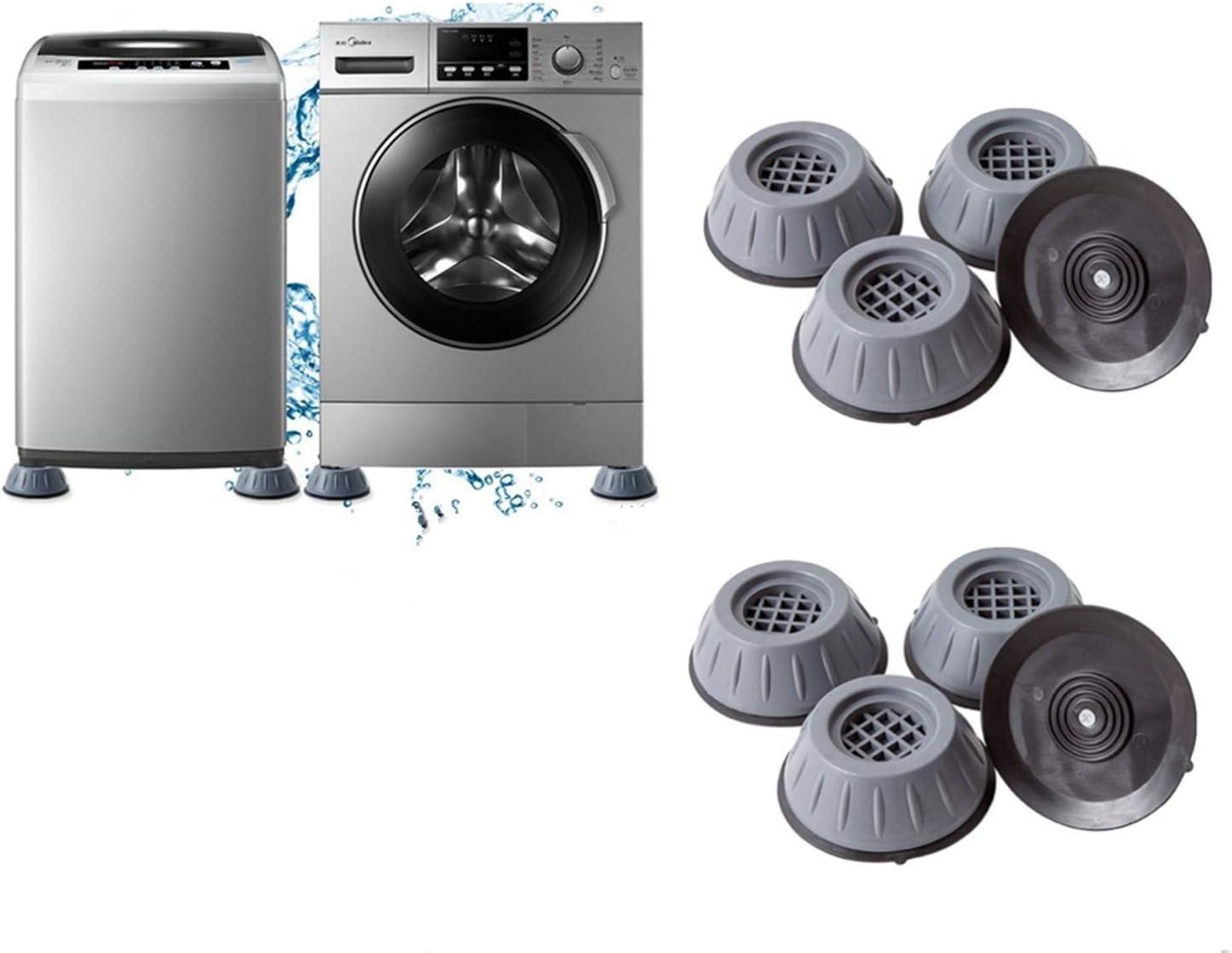 Shock and Noise Cancelling Washing Machine Support Washer Dryer Anti Vibration Anti-Walk Foot Pads Anti Slip Fridge Bed Leveling Mat Isolation Rubber Feet Mat Protection Against Walking Reduce Shaking