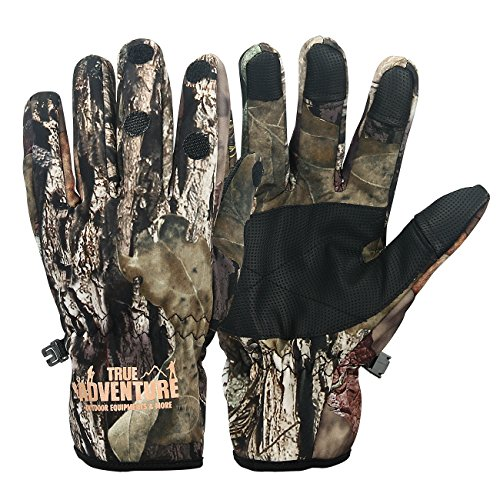 Evaliana Camouflage Hunting Fishing Gloves Touch Screen Thermal Driving Motorcycle Cycling