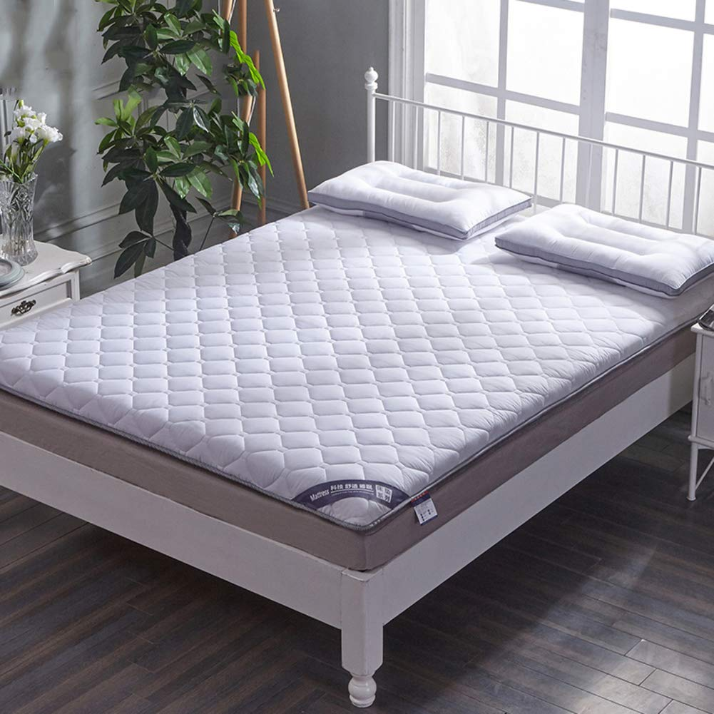 YQ WHJB Cotton Thicken Mattress Pads,Tatami Mattress,Japanese Hotel Overfilled Soft Non-Slip Breathable Mattress Protector-A 90x200cm(35x79inch)