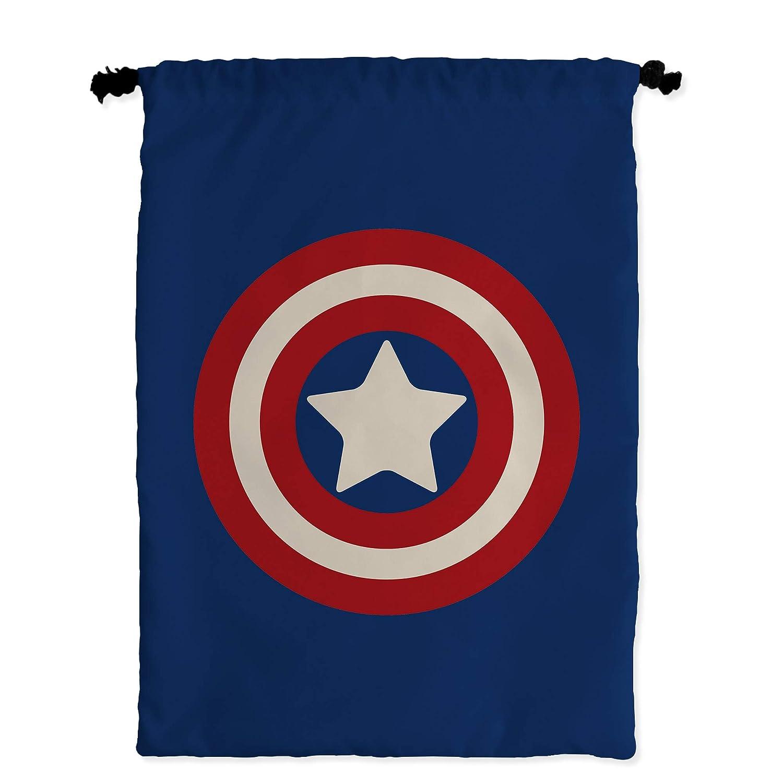 Bolsa Merienda Superhéroes Personalizada con Nombre   Regalo Friki   Vuelta al Cole   Varios Diseños a Elegir   Capitán América