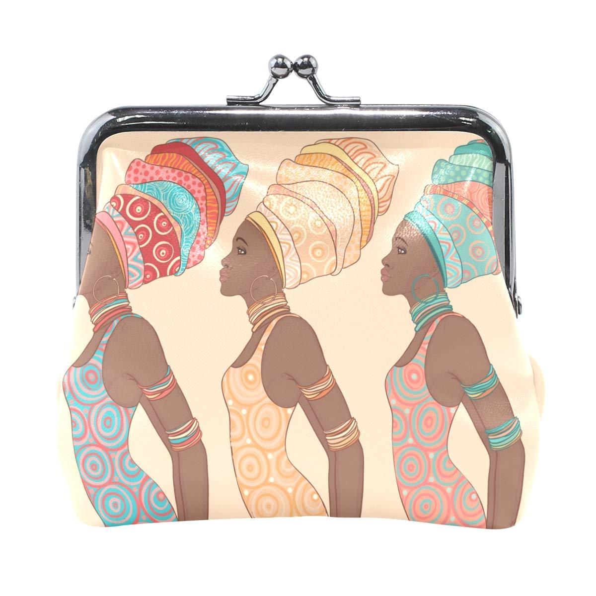 Fashion Womens Coin Purse African Woman Vintage Pouch Mini Purse Wallets