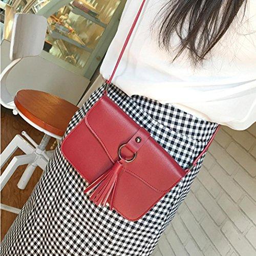 Women Crossbody Bag Bag Bag Coin Red Shoulder Tassels Hasp Phone Bag SSrCTqBw