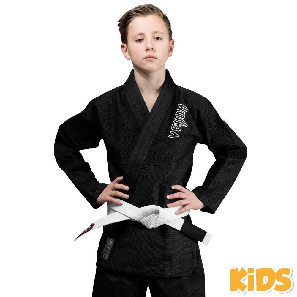 Venum Kids Contender BJJ Ju級GIスーツ – ブラック – 新しい  C0