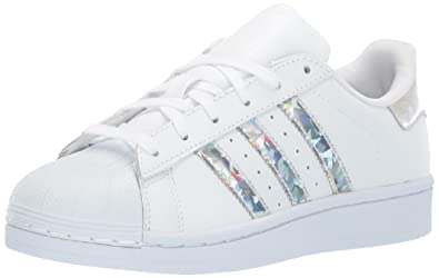 sports shoes d8f86 d957d adidas Originals Unisex Superstar Running Shoe, White, 3.5 M US Big Kid