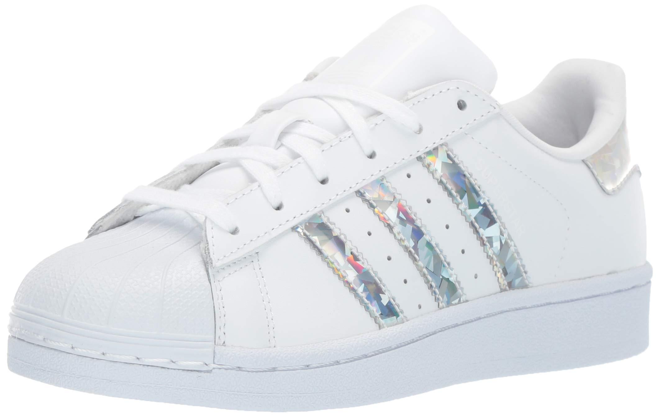 adidas Originals Unisex Superstar Running Shoe, White, 4 M US Big Kid